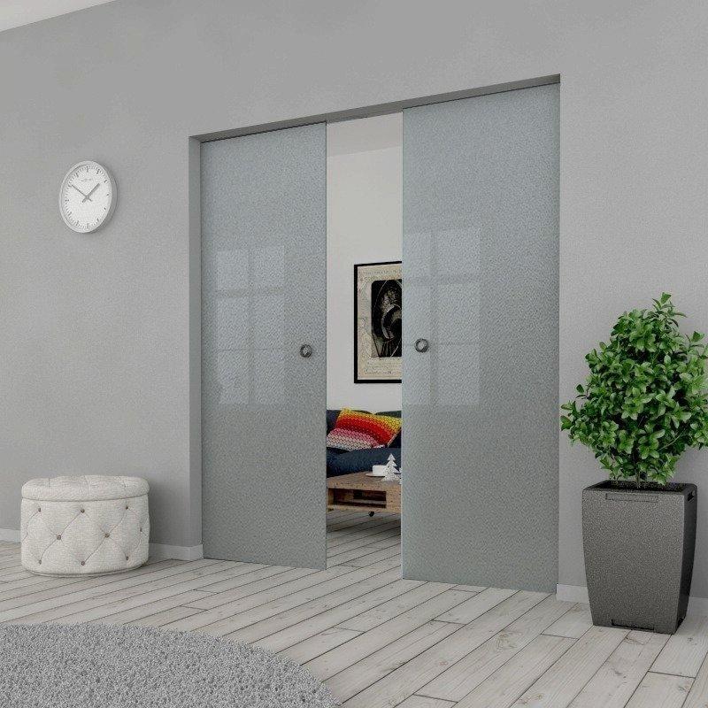 Drzwi Szklane Przesuwne 1900X2095 8MM ESG MILENIUM + KASETA