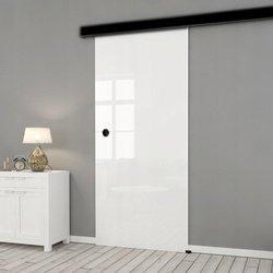Drzwi Szklane Przesuwne 65 ESG/VSG BIAŁE FLOAT NERO