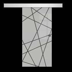 Drzwi Szklane Przesuwne 65 GEO6 SILVER