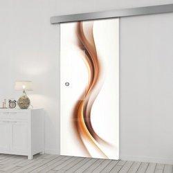 Drzwi Szklane Przesuwne 65 GR-H012 SILVER