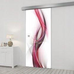 Drzwi Szklane Przesuwne 65 GR-H023 SILVER