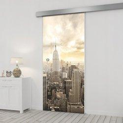 Drzwi Szklane Przesuwne 65 GR-H09 SILVER