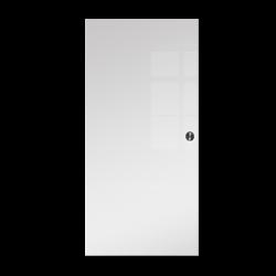 Drzwi Szklane Przesuwne 65 VSG BIAŁE FLOAT KASETA