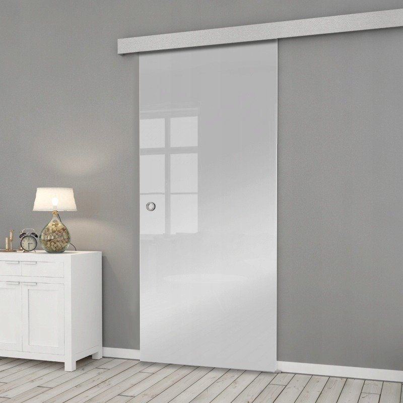 Drzwi Szklane Przesuwne 650X2095 8MM ESG/VSG SATYNA