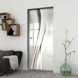 Drzwi Szklane Przesuwne 75 GR-H018 KASETA
