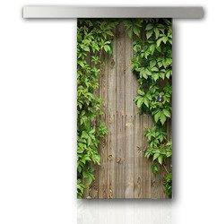 Drzwi Szklane Przesuwne 750X2095 8MM ESG/VSG GRAFIKA 2STR GR-H07 + SYSTEM PRZESUWNY