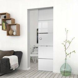 Drzwi Szklane Przesuwne 85 GEO11 KASETA