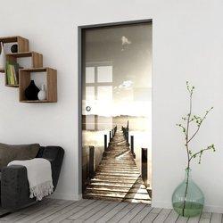 Drzwi Szklane Przesuwne 85 GR-H04 KASETA