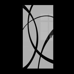 Drzwi Szklane Przesuwne  850X2095 8MM ESG GEO14 + KASETA