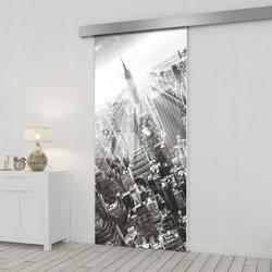 Drzwi Szklane Przesuwne 95 GR-H06 SILVER