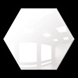Kafelek lustrzany 183x160 Heksagon 4mm Szlif Poler Białe