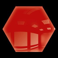 Kafelek lustrzany 25X21,6 Heksagon 4mm Szlif Poler Czerwone