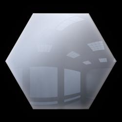 Kafelki lustrzane 183x160 Heksagon 3mm Szlif Poler Srebrne 1szt.