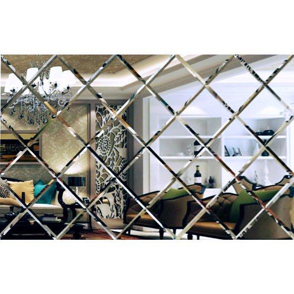 Lustro Fazowane Glamour Samoprzylepne 127x212