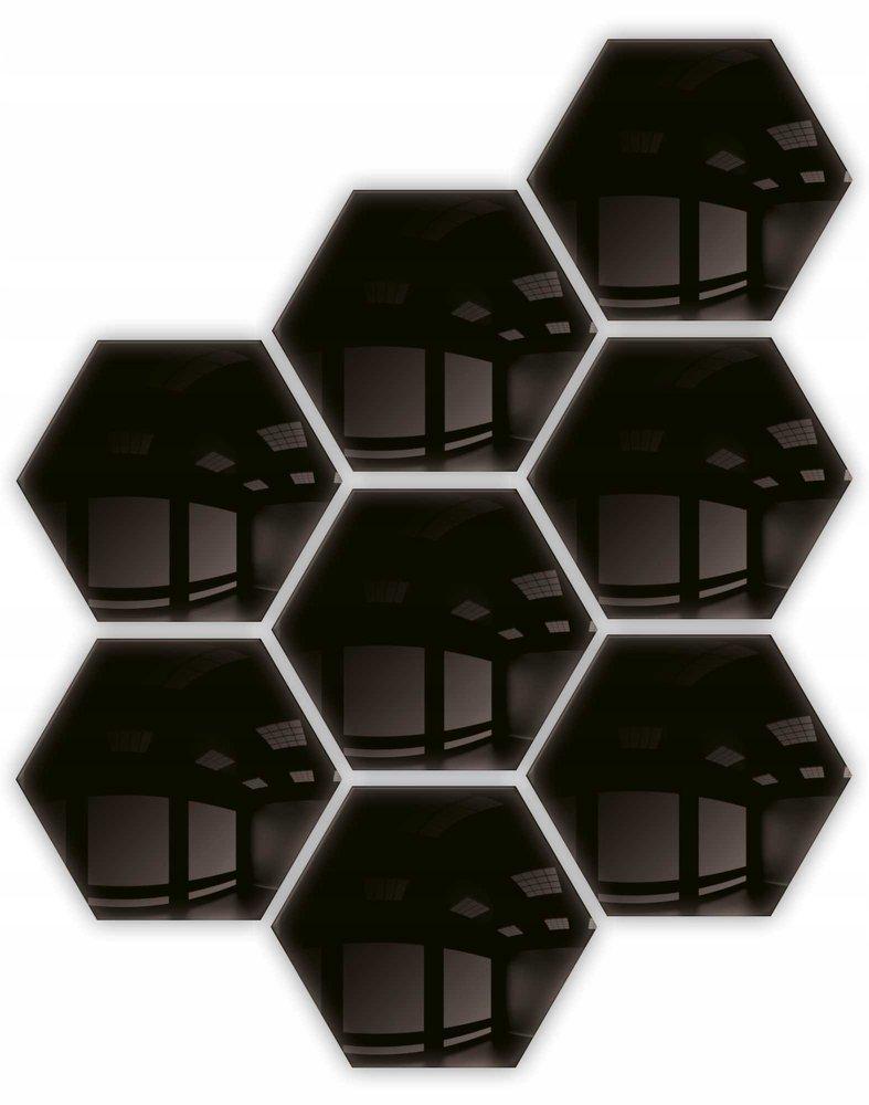 Lustro dekoracyjne hexagon samoprzylepne 8szt 183x160mm