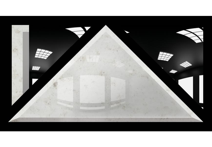 Płytka Lustrzana - 30x30X42 4MM Faza AG1 Silver Trójkąt