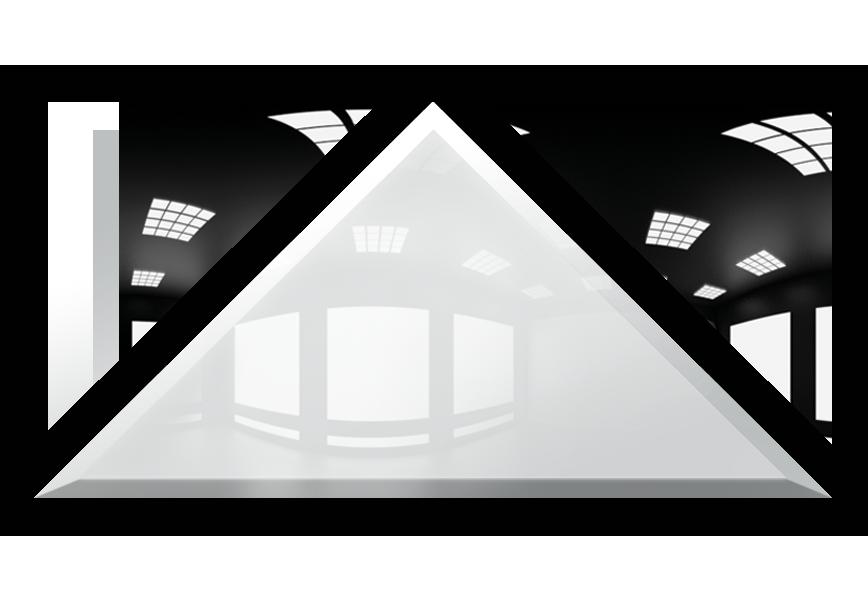 Płytka Lustrzana - 30x30X42 4MM Faza Biały Trójkąt