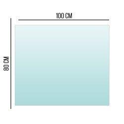 Podstawa Szklana Pod Piec Kominek Szkło 6mm 100x80