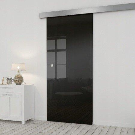 Drzwi Szklane Przesuwne 75 ESG/VSG CZARNE SILVER