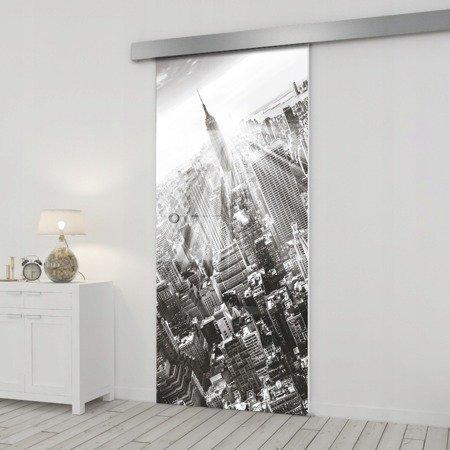 Drzwi Szklane Przesuwne 75 GR-H06 SILVER