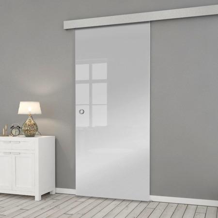 Drzwi Szklane Przesuwne 85 ESG/VSG SATYNA SILVER