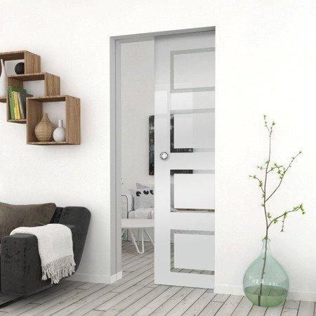 Drzwi Szklane Przesuwne  850X2095 8MM ESG GEO12 + KASETA