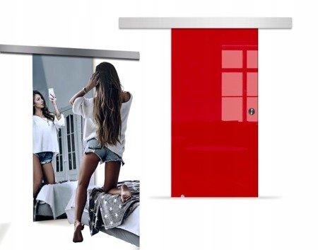 Drzwi Szklane Przesuwne 950X2095 8MM VSG LUSTRO/CZ