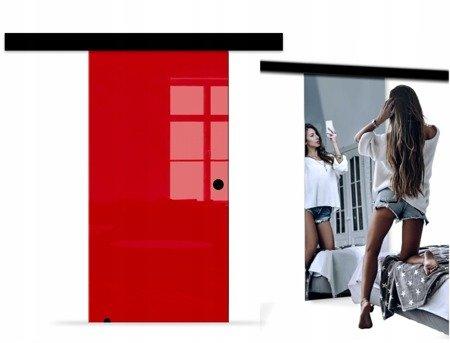 Drzwi Szklane Przesuwne BLACK DESIGN 850X2095 8MM