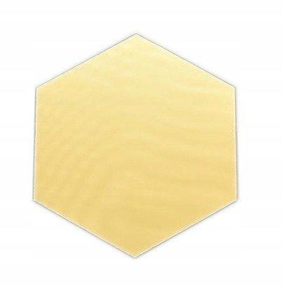 Płytka Lustrzana - 183x160 Hexagon Szlif Poler Złoty